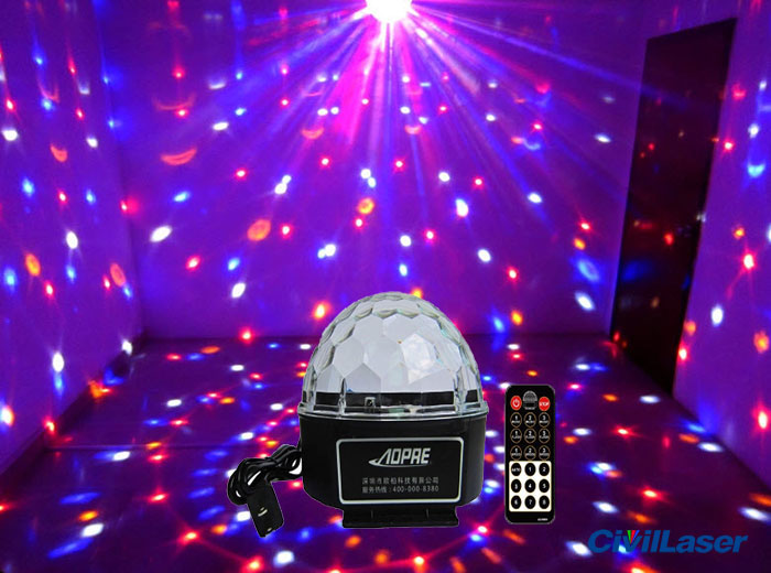 Cheap LED lighting Disco Crystal Ball small projector for home party with Remote control